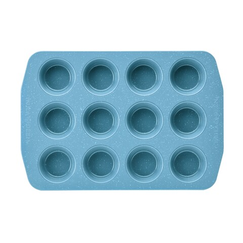 Paula Deen Speckle Nonstick Bakeware 12 Cup Muffin and Cupcake Pan