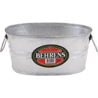 Hot Dipped 1 Gallon Steel Oval Tub