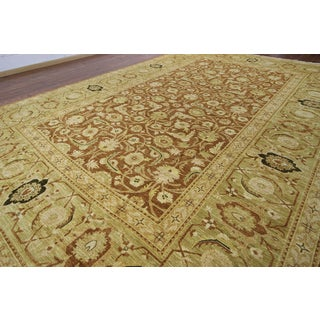Hand-knotted Serapi Brown Wool Area Rug (12' x 17'7)