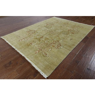 Hand-knotted Chobi Natural Wool Area Rug (6'1 x 8'1)