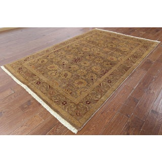 Hand-knotted Peshawar Camel Wool Area Rug (5'10 x 9')