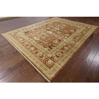 Hand-knotted Peshawar Rust Wool Area Rug (8'1 x 10'3)