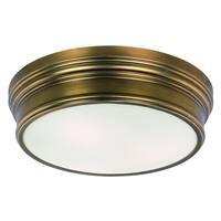 Maxim Fairmont 3-light Flush Mount - natural aged brass