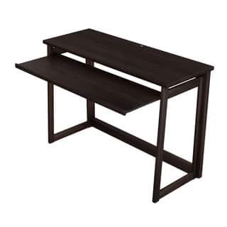 Sculpten Dark Brown Modern Computer Desk Free Shipping