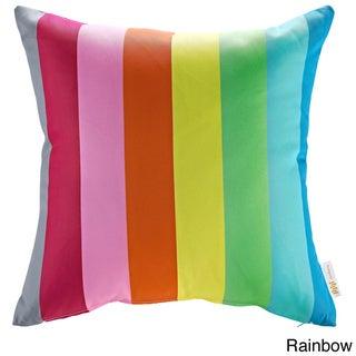 Modify Graphic Print Outdoor Patio Pillow (Rainbow)