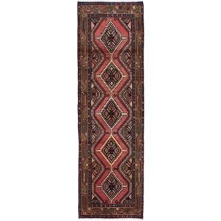 ecarpetgallery Hand-knotted persian Koliai Brown Wool Rug (2'8 x 8'11)