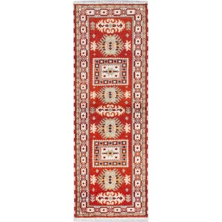 ecarpetgallery Hand-knotted Royal Kazak Brown Wool Rug (2'11 x 8'3)