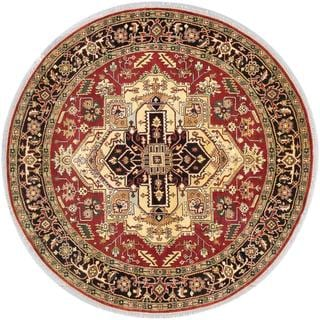 ecarpetgallery Hand-knotted Serapi Heritage Brown Wool Rug (8'0 x 8')