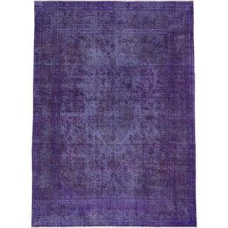 ecarpetgallery Hand-knotted Color Transition Purple Wool Rug (9'1 x 12'3)