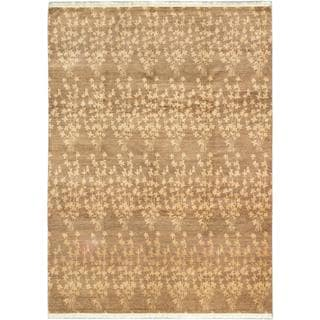 ecarpetgallery Hand-knotted Peshawar Ziegler Brown Wool Rug (7'1 x 9'10)