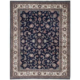 ecarpetgallery Hand-knotted Royal Mahal Blue Wool Rug (7'7 x 9'10)