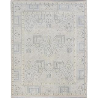 ecarpetgallery Hand-knotted Royal Ushak Gray Wool Rug (7'11 x 9'11)