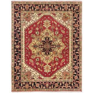 ecarpetgallery Hand-knotted Serapi Heritage Red Wool Rug (7'10 x 10')