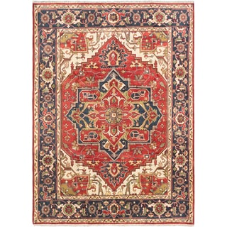 ecarpetgallery Hand-knotted Serapi Heritage Brown Wool Rug (8'10 x 12')