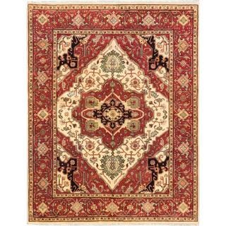 ecarpetgallery Hand-knotted Serapi Heritage Beige/ Brown Wool Rug (8'1 x 10'3)