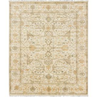 ecarpetgallery Hand-knotted Royal Ushak Beige Wool Rug (8'2 x 9'9)