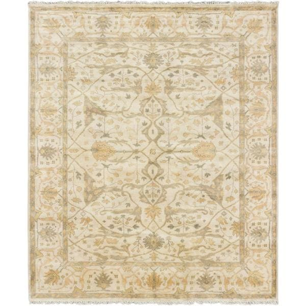 ecarpetgallery Hand-knotted Royal Ushak Beige Wool Rug (8'2 x 9'9)