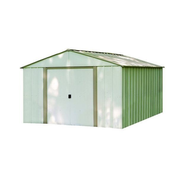 "Arrow Oakbrook Galvanized Steel Shed 10' x 14' with 62"" Wall Height"