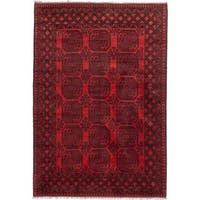 ecarpetgallery Hand-knotted Khal Mohammadi Black/ Red Wool Rug (6'8 x 9'6)