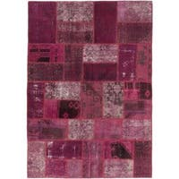 ecarpetgallery Hand-knotted Color Transition Patch Red Wool Rug (5'9 x 8'2)