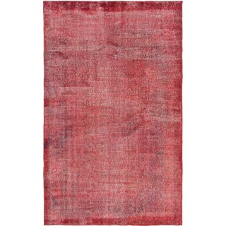 ecarpetgallery Hand-knotted Color Transition Red Wool Rug (5'9 x 9'3)