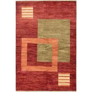 ecarpetgallery Hand-knotted Peshawar Ziegler Beige/ Red Wool Rug (5'10 x 8'8)