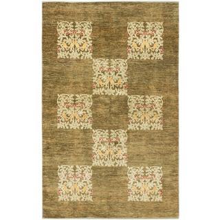 ecarpetgallery Hand-knotted Peshawar Ziegler Green Wool Rug (5'11 x 9'6)