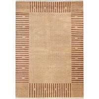 ecarpetgallery Hand-knotted Peshawar Ziegler Beige Wool Rug (6'4 x 8'9)