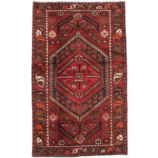 ecarpetgallery Hand-knotted persian Tafresh Red Wool Rug (4'0 x 6'7)