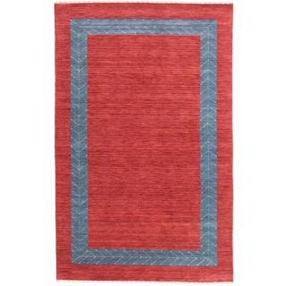 ecarpetgallery Hand-knotted Kashkuli Gabbeh Red Wool Rug (6'0 x 9')