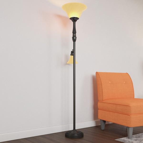 Porch & Den RiNo Blake Black 2-light Floor Lamp