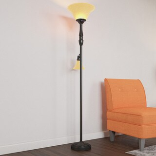 Porch & Den RiNo Blake Black 2-light Floor Lamp