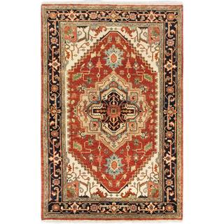 ecarpetgallery Hand-knotted Serapi Heritage Brown Wool Rug (4'0 x 6'2)