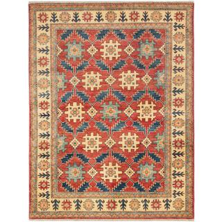 ecarpetgallery Hand-knotted Finest Gazni Red Wool Rug (4'11 x 6'6)