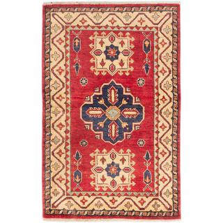 ecarpetgallery Hand-knotted Finest Gazni Red Wool Rug (3'1 x 4'10)