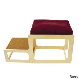 Lacey's Lookout Small Pet Natural Window Seat (Option: Brown/Blue/Red)