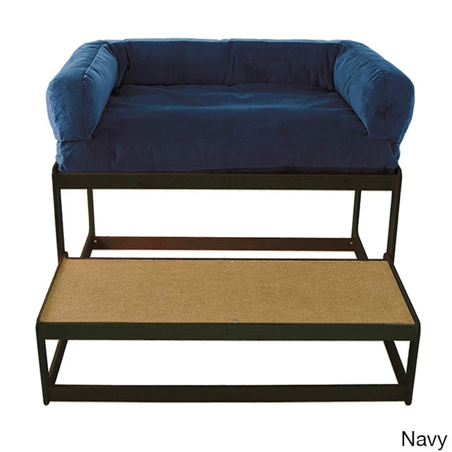 Savvy Lacey's Lookout Large Black Pet Window Seat (Navy B...