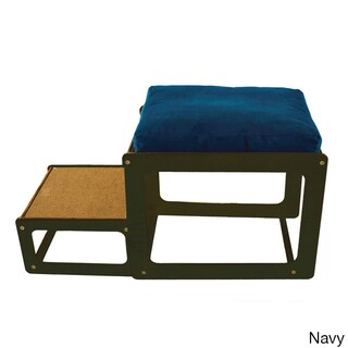 Lacey's Lookout Small Espresso Window Seat Pet Furniture (Option: Brown/Blue/Red)