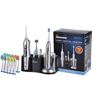 Pursonic S625 Rechargeable Sonic Toothbrush and Rechargeable Water Flosser with 12 Brush Heads