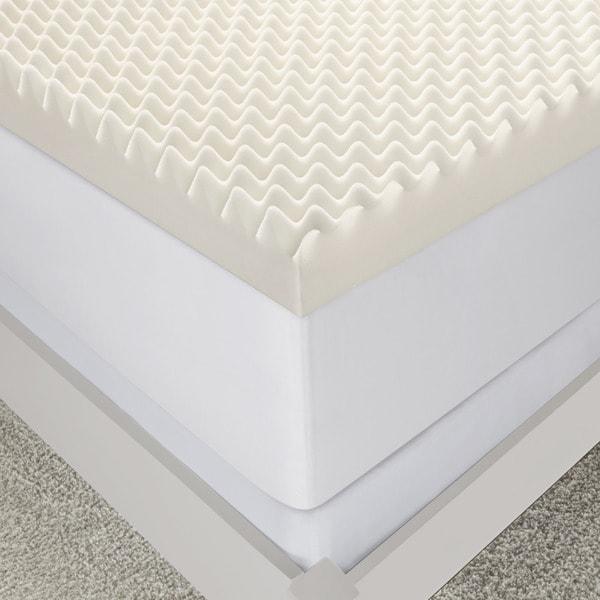 serta 3inch wave memory foam mattress topper free shipping today