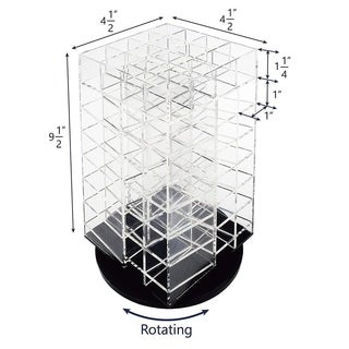 Ikee Design Premium Acrylic Rotating Cosmetic 64 Lipsticks Tower Organizer