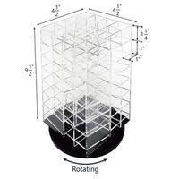 Ikee Design Premium Acrylic Rotating Cosmetic 64 Lipsticks Tower Organizer - Black