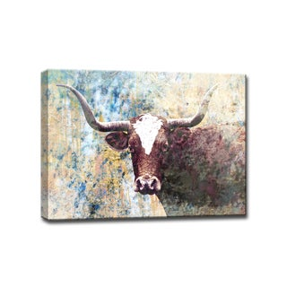 Ready2HangArt 'Long Horns' Gallery Wrapped Canvas Art