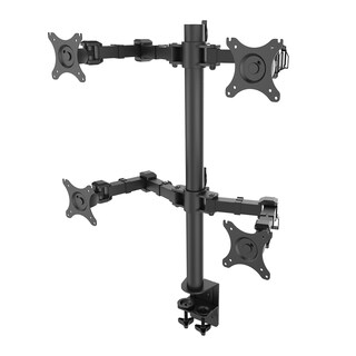 Fleximounts D1q Full Motion Quad Arm Desk Mounts Stand Fits 10-30-inch Asus Acer Aoc Lcd Computer Monitor