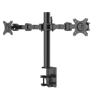 Fleximounts D1d Full Motion Dual Arm Desk Monitor Mount Stand Fits 10 - 30-inch Lcd Computer Monitor