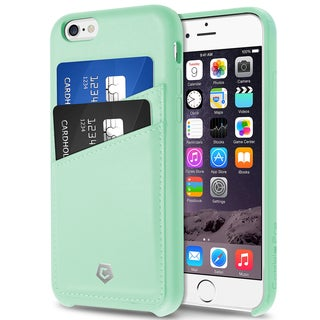 CobblePro Premium Handcrafted Mint Green Leather Case Cover with Wallet Flap Pouch For Apple iPhone 6/ 6s/ 6 Plus/ 6s Plus