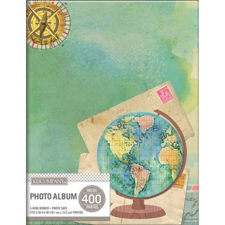 K&Company 2 Up Binder Photo Album  Travel Map