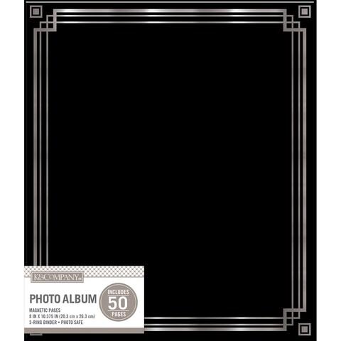 K&Company Magnetic Binder Photo Album Black
