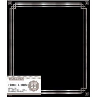 K&Company Magnetic Binder Photo Album   Black