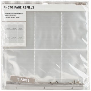 K&Company Photo Page Refills 12inX12in 10/Pkg (6) 4inX6in Pockets